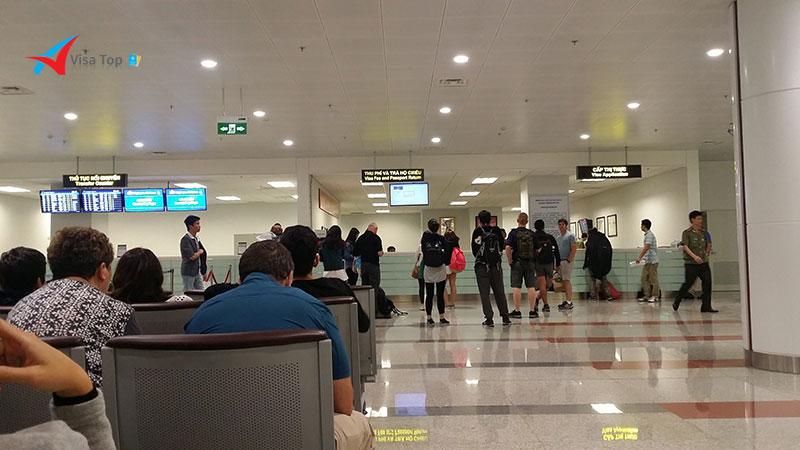 Xin visa tại sân bay nhập cảnh