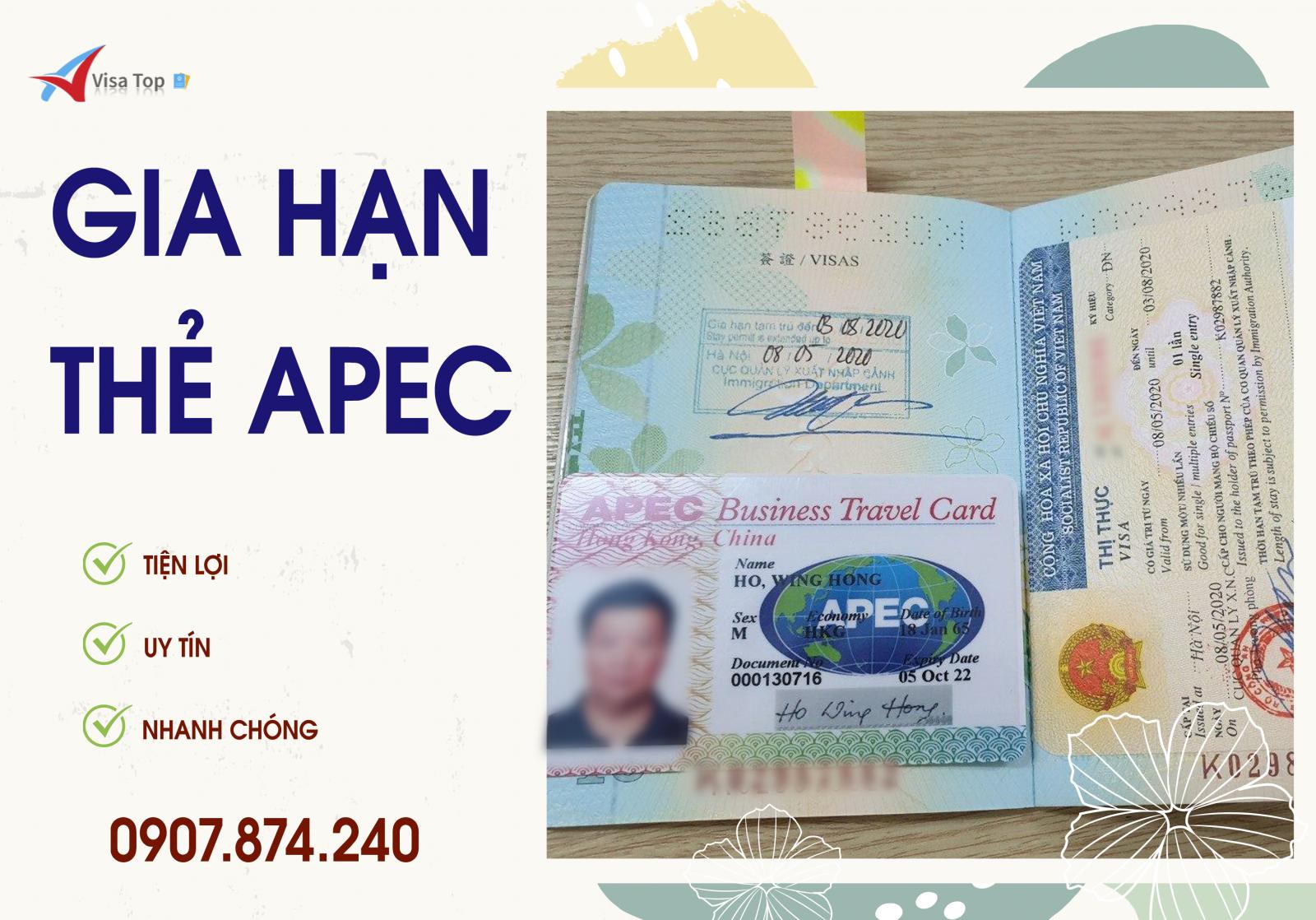 Dịch vụ gia hạn thẻ Apec